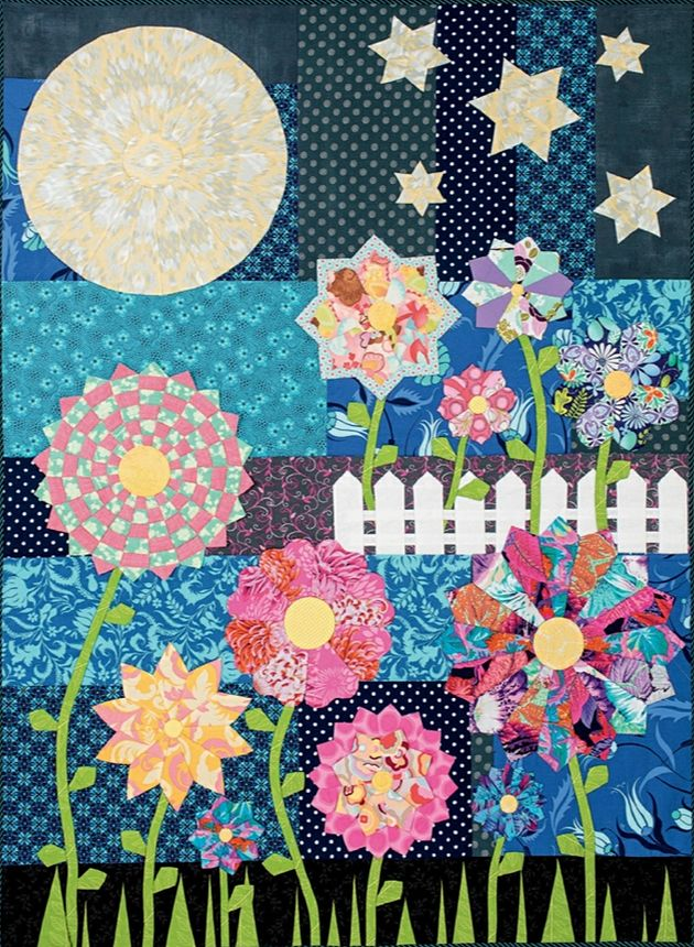 Quot Spring At Midnight Quot Quilt By Paula Storm Designs
