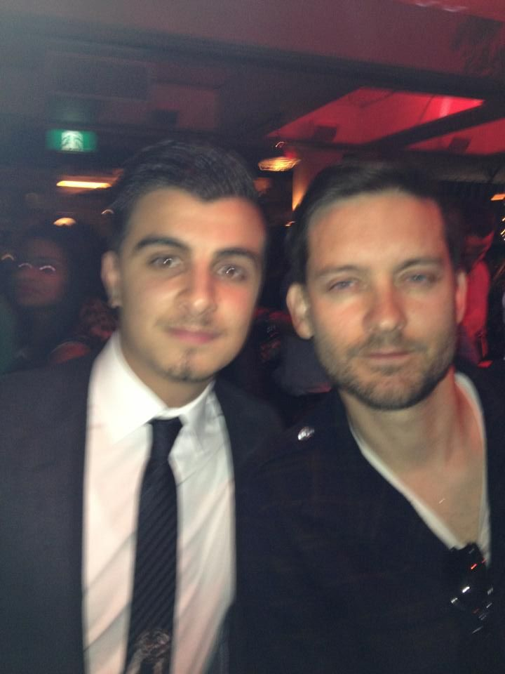 Joshua Aoun (Roseys Head Agent) with Tobey Maguire