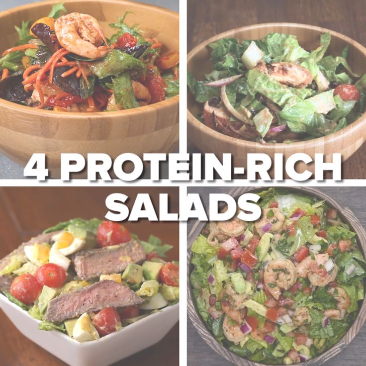4 Protein-Rich Salads #health #greens #veggies