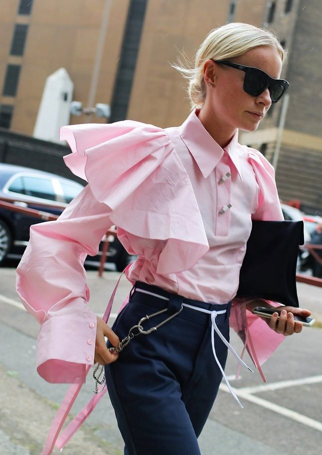 Try a statement sleeve. As seen on the street during London and Milan Fashion Week.