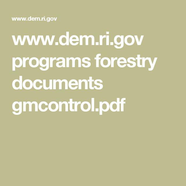 www.dem.ri.gov programs forestry documents gmcontrol.pdf