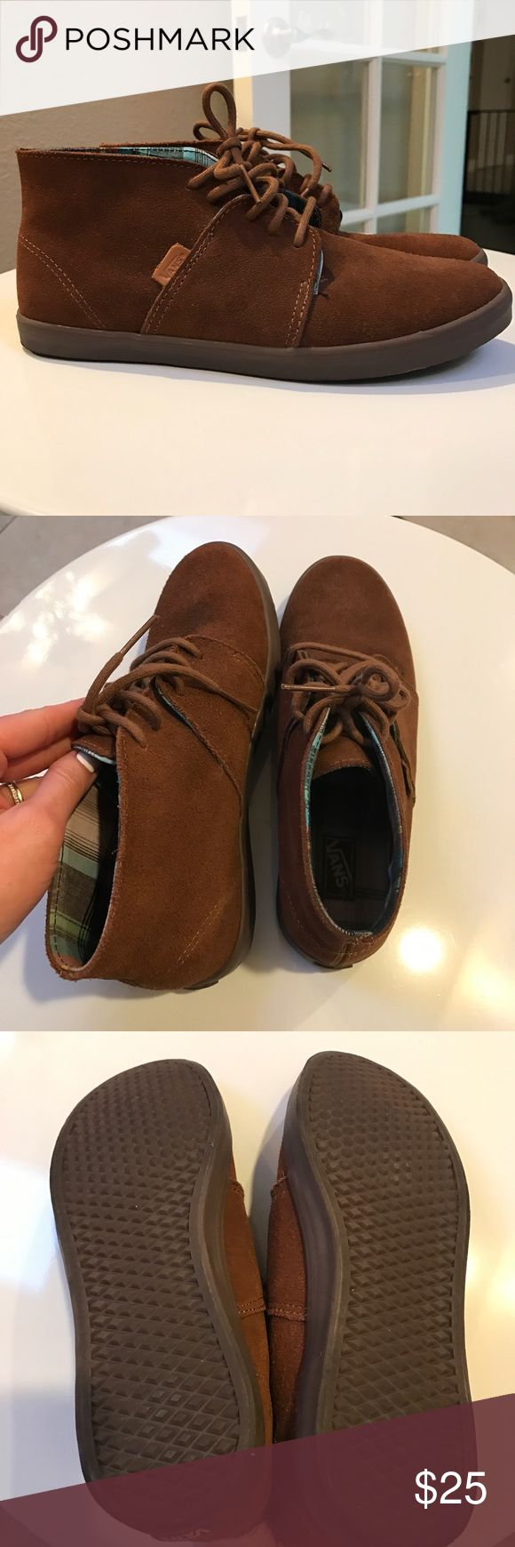 Vans Brown Suede Chukka Sneakers Vans Brown Suede Chukka Boot sneakers. Excellent condition. Like new. Only wore once. Vans Shoes Sneakers