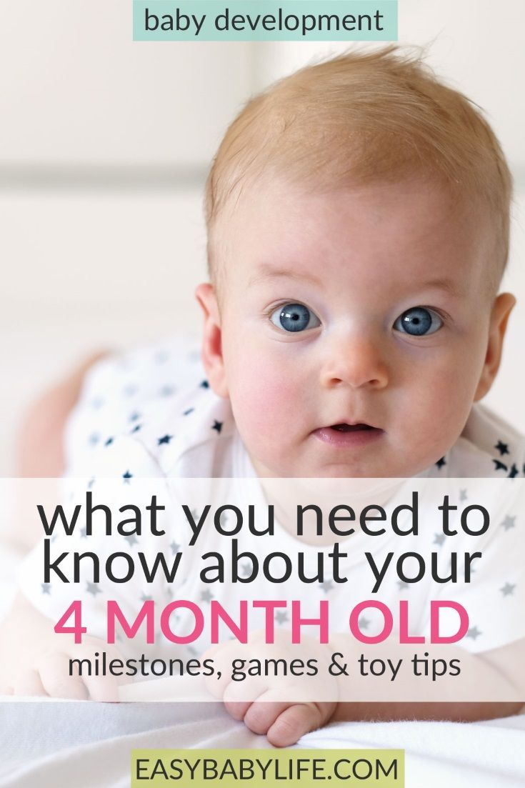 4-month-old babies are happy kids! Find 4-month-old development milestones, games to play and toy tips for 4-month-olds here! What to do with a 4-month-old baby. Baby development tips!