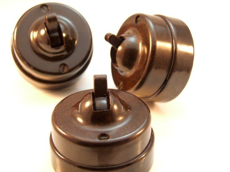 Temco Vintage Bakelite Toggle Light Switch 1Way 1Gang Restored | eBay