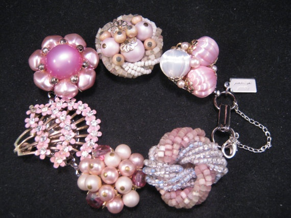Reclaimed Vintage Bracelet Bridesmaid Gift by JenniferJonesJewelry, $37.50