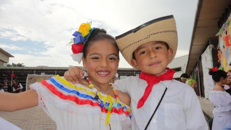 Colombian Traditional Costume for boy and girl You will always remember a historic championship world cup!! www.brasilcopamundotowel.com