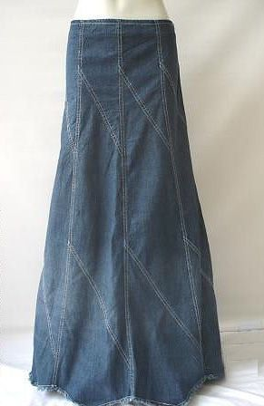 Long Blue Jean Skirts For Sale