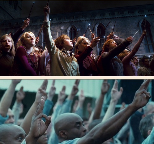 Wizards raised their wands when Dumbledore dies, the people of District 11 raised three fingers when Rue dies. It means thanks, it means admiration, it means good-bye to someone you love. Farewell: http://pinterest.com/claudiaspins/i-have-plenty-of-fire-myself-what-i-need-is-the-da/ o-oRaised Three, The Hunger Games, Three Fingers, District 11, Harrypotter, Movie, Hungergames, Harry Potter, Rue Die
