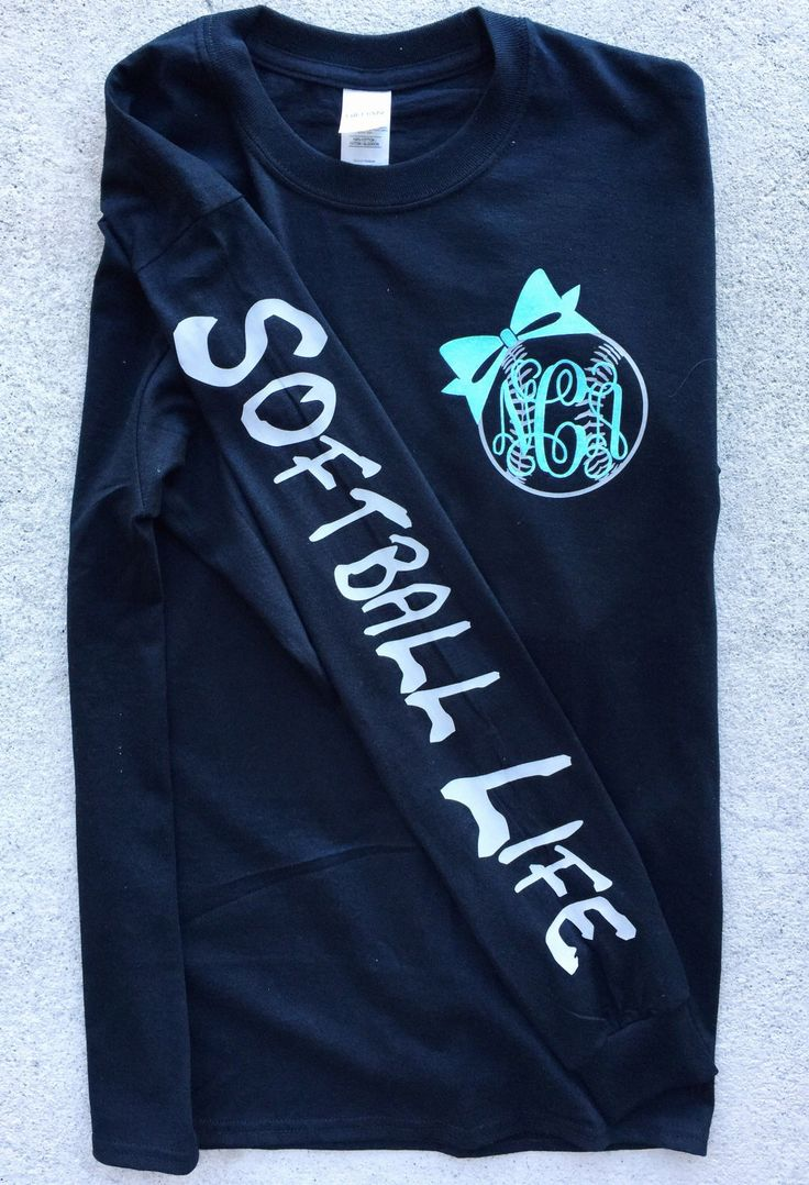 Softball Life Monogram Long Sleeve Shirt by SweetCarolinaCompany on Etsy https://www.etsy.com/listing/513375521/softball-life-monogram-long-sleeve-shirt