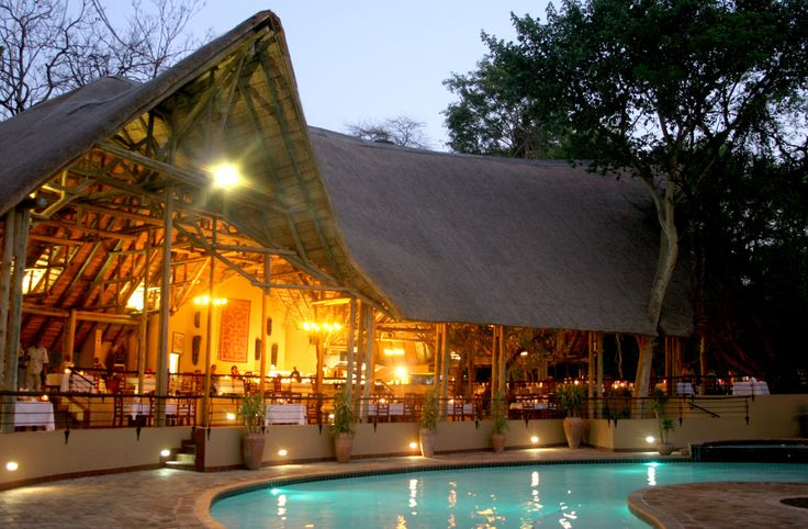 Choebe Safari Lodge dining area, situated in Kasane on the banks of the Chobe River and shares a border with #Chobe National  Park. #Botswana  #Africa #Safari #Nature