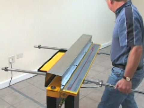 Homemade Bending Tool/sheet metal brake - YouTube
