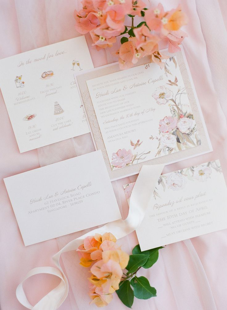 how to make wedding invitation card in microsoft word007%0A Antoine and Haidi u    s Enchanted Garden Wedding at Amanusa  Bali  Floral  InvitationInvitation IdeasInvitation CardsWedding