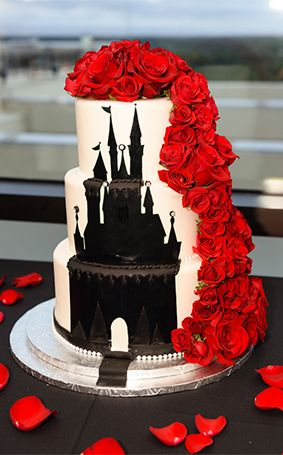 Wedding Cake Wednesday: Disney Wedding Cake : Cinderella Castle Roses - WOW!!! | Disney Fairy Tale Weddings and Honeymoon
