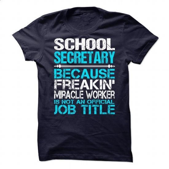 Awesome Shirt For School Secretary - #long #funny hoodies. BUY NOW =>…