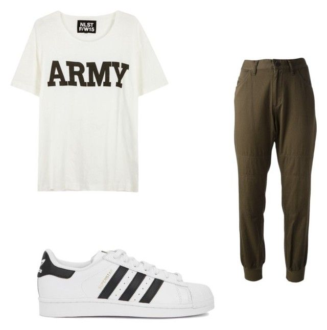 """"" by super19fam on Polyvore featuring beauty, NLST, Y's by Yohji Yamamoto and adidas Originals"