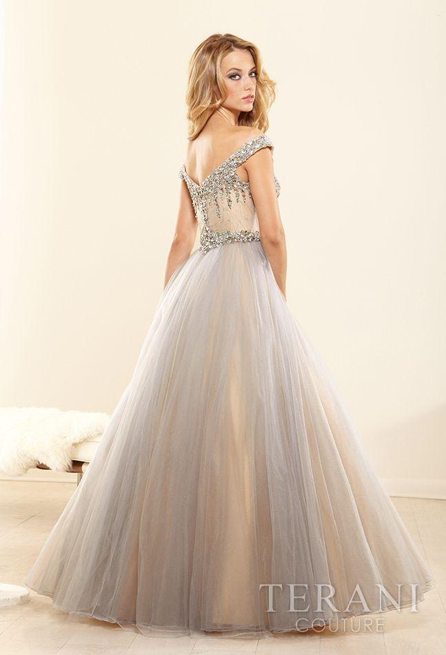 Terani Couture P3090 Vintage Champagne Wedding Dress