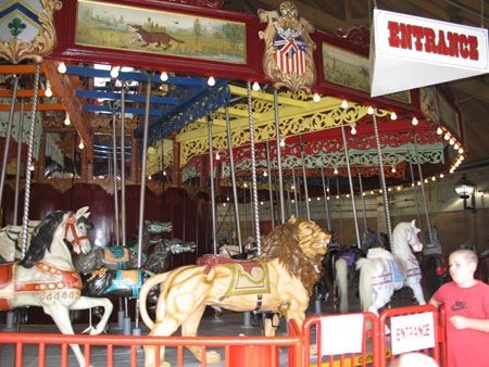 Port Dalhousie carousel..my brother Jack did an oil of this and prints made and sold to repair the carousel...up and running again after many years..still five cents a ride....was thrilled to ride it in 2011