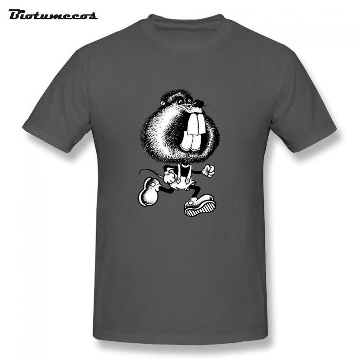 2017 Summer Fashion Big Teeth Of Squirrel Design T Shirt Men's High Quality Custom Printed Tops Hipster Tees