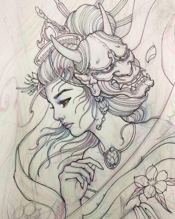 Ideia Por Eboni Cobby Em Tattoos Tatuagem De Gueixa