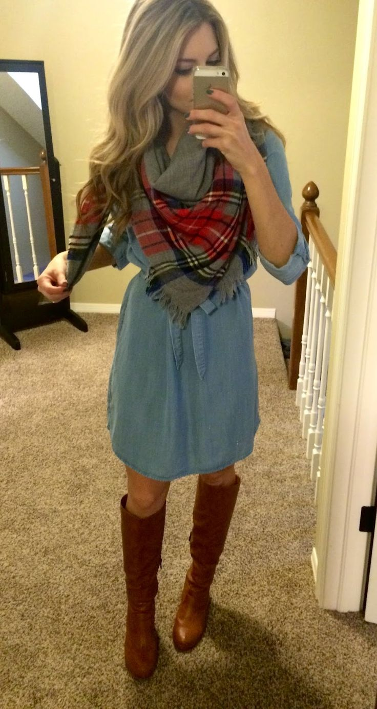 Chambray, plaid, boots