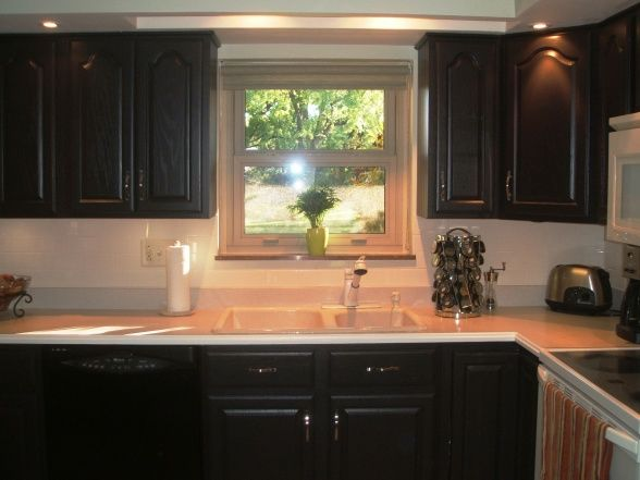 Black Hardware On Honey Oak Kitchen Cabinets