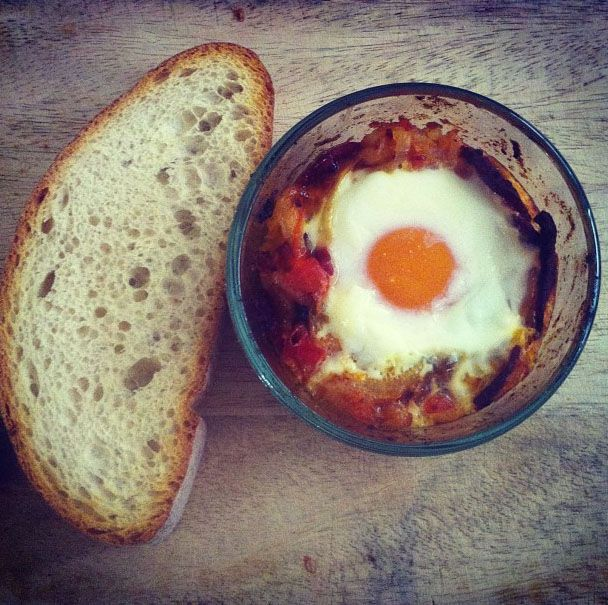 Eggs Baked in a Spicy Tomato Sauce