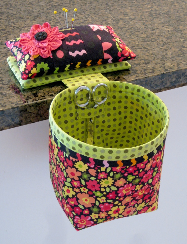 Sew In Style Thread Catcher with Detachable Pincushion.  Ooh.  I like this one, too.