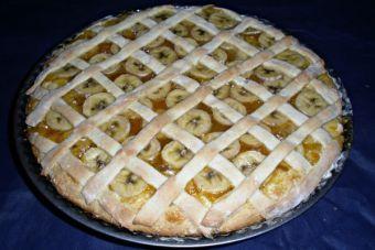 Kuchen de plátano con mermelada