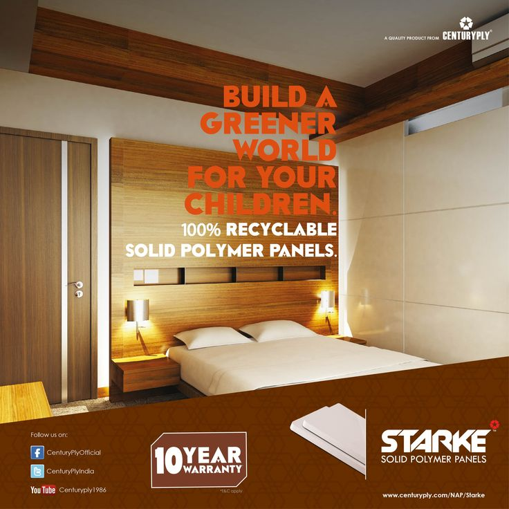 #Starke - Solid Polymer Panels, is 100% recyclable.