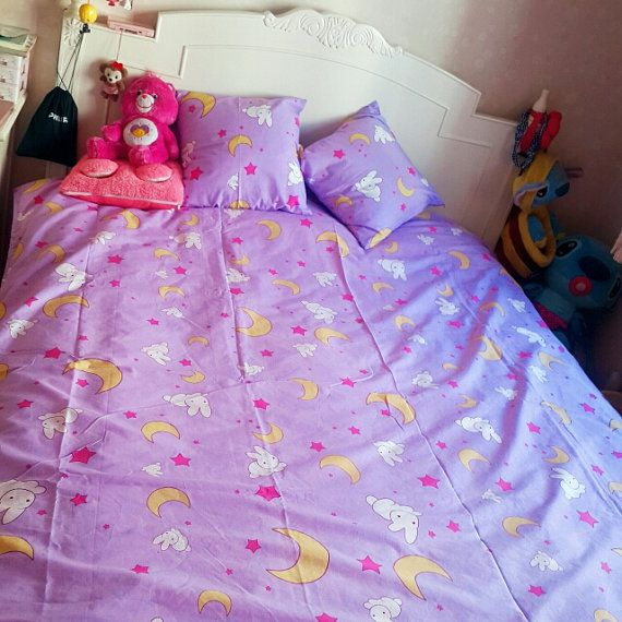 Sailor Moon Usagi Tsukino Bed Sheets Duvet Set by NavidsonVintage