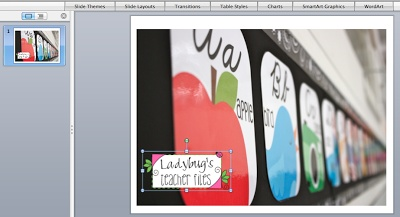 Ladybug's Teacher Files: Tutorial: Watermarking Photos with your Blog Button