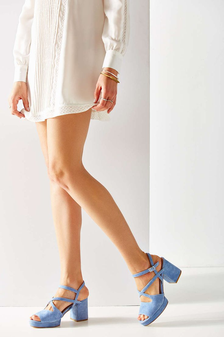 Gina Suede Strappy Heel #UrbanOutfitters