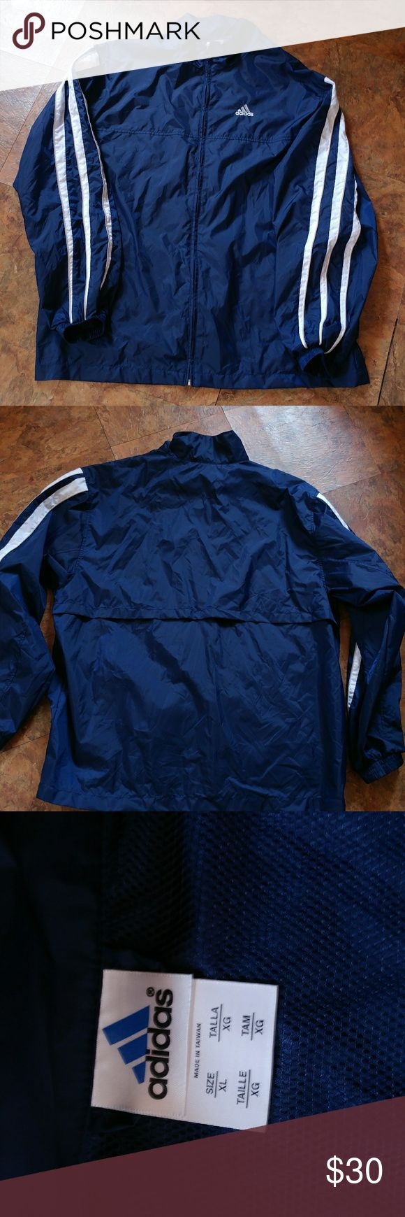 Men's Retro Adidas Windbreaker Very good condition, no signs of wear. 27 inches pit to pit, 31 inches in length. adidas Jackets & Coats Windbreakers