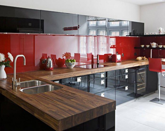 Design si accesorii amenajare bucatarii rosii clasic si vintage