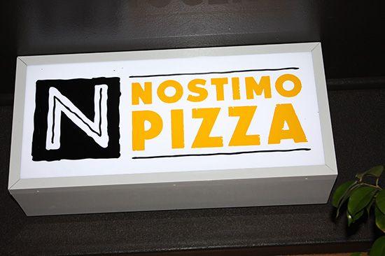 Nostimo Pizzeria Sign