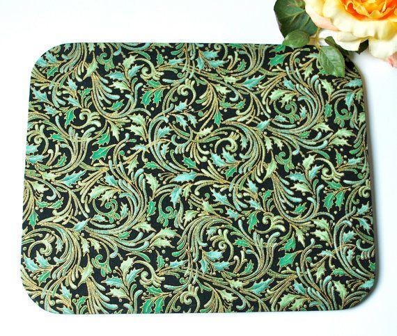 Mousepad Green Flowers Untersetzer Ablage von Arsunica auf Etsy, €11.00