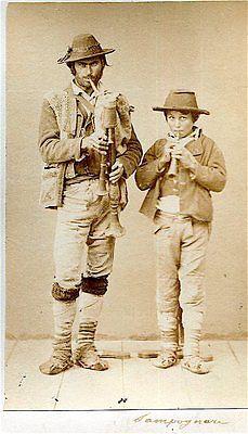 Albumen-Photograph-Italy-Rome-Type-Musicians-1870-Sommer