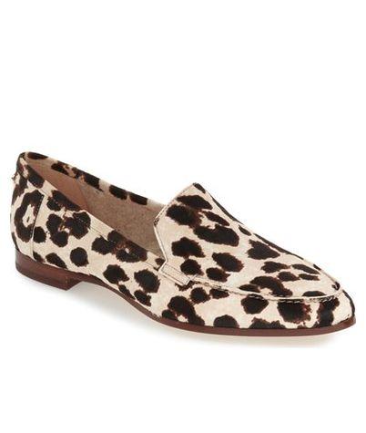 kate spade carima leopard print loafer