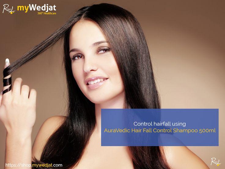 Control hairfall using AuraVedic Hair Fall Control Shampoo 500ml  https://goo.gl/c64W31  #myWedjat #HairFall #Auravedic