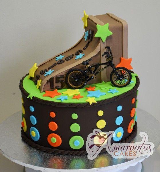 BMX Bike Birthday Cakes cakepins.com