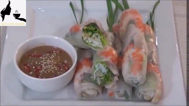 Homemade Vietnamese  Fresh Rice Paper Rolls- Goi Cuon Tom Thit