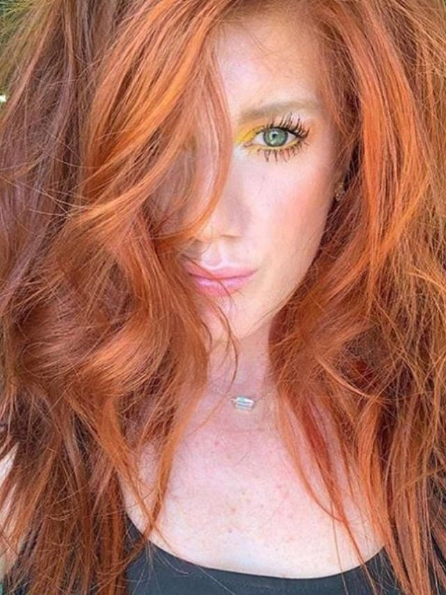 Christineschumann Wears Vibrant Orange Start With Blonde Red Light Brown Or Faded Orange Hair This Is A Hydrat Red Ombre Hair Red Hair Color Orange Hair