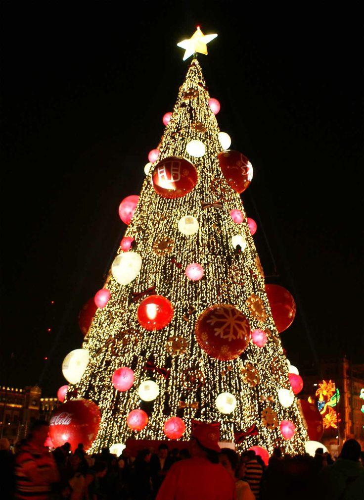 Árbol de Navidad, Plaza de la Constitución Zócalo