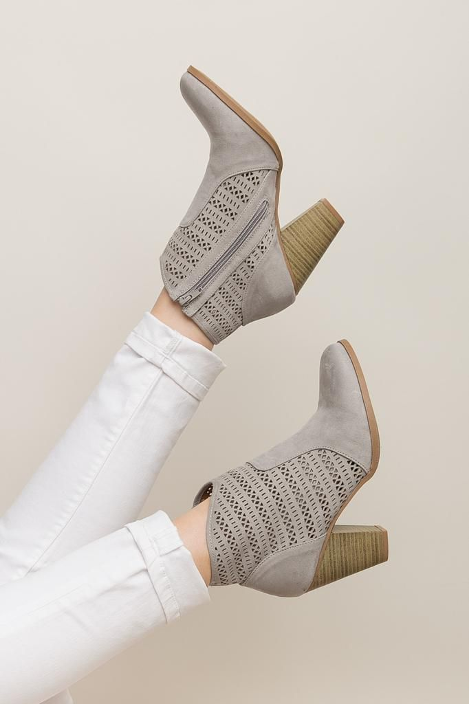 Southern Starlet Booties in Grey | ShopDressUp.com