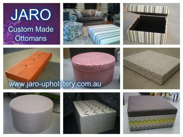JARO OTTOMANS - Round,Square, Rectangle, Pillow/Mock Top, Diamond Tufted/Buttoned, Storage, Leather. - JARO UPHOLSTERY, Melbourne, Phillip Island, SE Melbourne, Pakenham & Gippsland