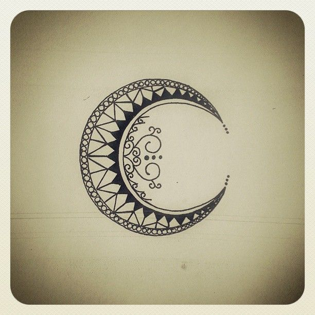 La Luna tattoo design