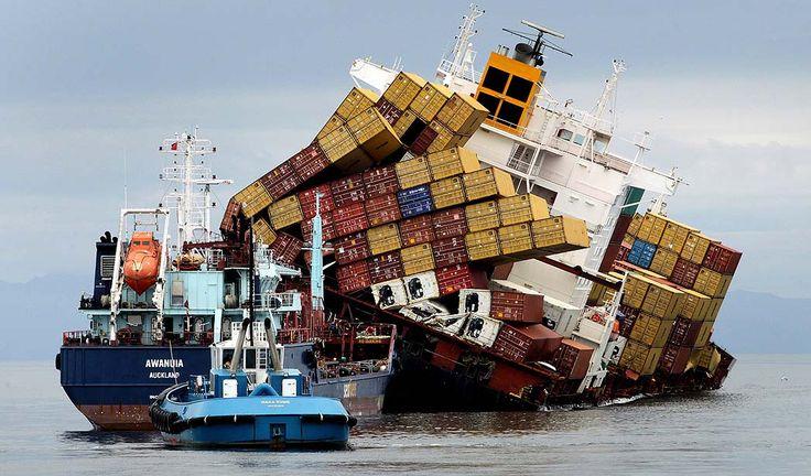 Oops!  Stricken cargo ship off New Zealand
