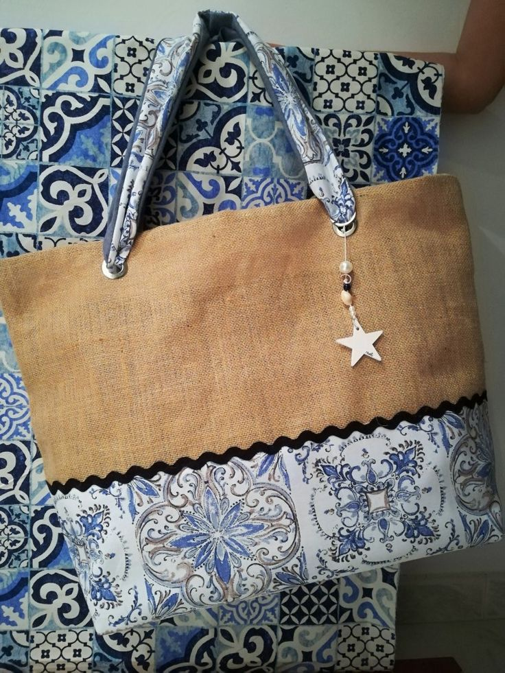 "Summer bag stile maioliche ""Pensieri di pezza"""