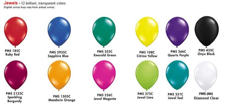 Jewel Tone Colors Color Chart Arches Balloon Decor