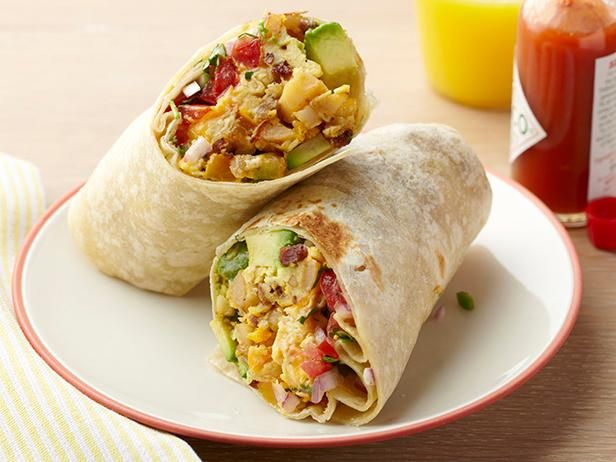 A Breakfast Burrito is a delicious, portable egg-filled meal. All of the elements are snugly wrapped in a tortilla, keeping everything warmer longer when you're taking it to go.
